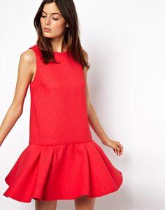 quilted drop waist dress / asos