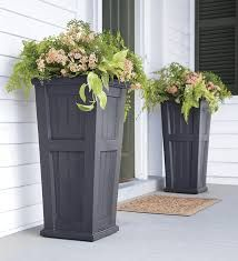 tall wooden planters made from decking