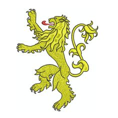 Machine Embroidery Design Instant Download - Heraldic Lion Rampant Game of Thrones Lannister Sigil