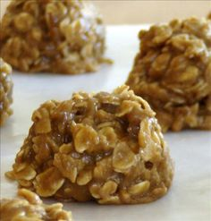 Peanut Butter Oatmeal No Bake Cookies (No Wheat / No Egg). Photo by HeathersKitchen