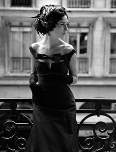 Enid Boulting in a Nina Ricci gown, photographer by John French, London 1960...