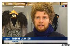 #EtienneJeanson during #TF1 #interview #dress #feathers 2013