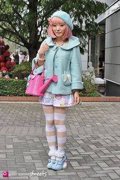KUMAMIKI Shibuya, Tokyo AUTUMN 2013, GIRLS Kjeld Duits STUDENT, 24  Coat – franche lippée Dress – Spank! Shoes – Irregular Choice