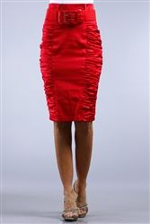 $33 Red Satin Vintage Pencil Skirts! Sizes S M L