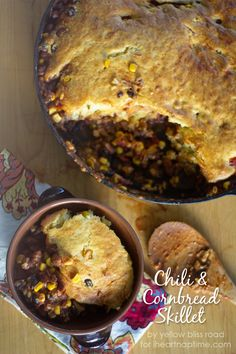 Chili and Cornbread Skillet - I Heart Nap Time