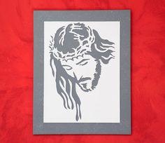 QUADRO CRISTO lavorato a mano - Quadro in LEGNO - Arte Sacra - Arte Religiosa - Decorazioni Religiose - Decorazioni da parete