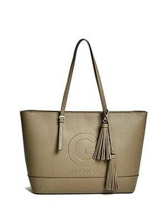 Guess Angie Tote Bag Off White Trend Runway Cream su