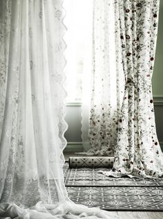 INGMARIE curtains with tie-backs Muliticoloured. Ikea Home, Window Dressings, Dream Bedroom, My Room, Bellisima, Classic Style, Sweet Home, Shabby Chic, Relax