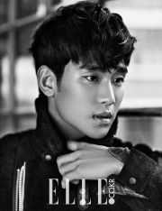 """Actor Kim Soo Hyun was named South Korea's """"Top Man"""" of the year by Elle magazine. Kim Soo Hyun modeled some of the latest winter fashion styles for men for the January issue of Elle."""