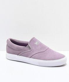 Diamond Supply Co. Boo-J Lavender & White Slip-On Skate Shoes J Shoes, Skate Shoes, Diamond Shoes, Diamond Supply Co, White Slip, Designer Shoes, Athletic Shoes, Lavender, Slip On