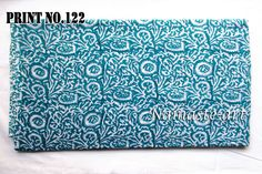 05-10 Yard Voile Sewing Material Indian Art Hand Print Block Cotton Craft Fabric #Unbranded