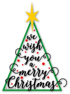 #MerryChristmas Tree #SVG File / PDF / dxf / png / jpg / ai / eps for Cameo V2 V3 / Cricut and other Electronic Cutters by #OneOakDesigns on Etsy