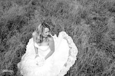 Country bride, black and white