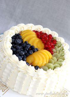 Beautiful Cakes, No Bake Cake, Acai Bowl, Fondant, Cake Decorating, Good Food, Food And Drink, Fruit, Breakfast