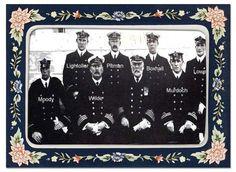 Titanic's navigating officers. 11:40 pm April 14,1912 hit iceberg