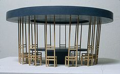 Proposal for Utopian Cafe (round), 2001  wood  24 x 24 x 42 inches