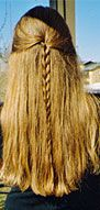 The V-shaped trim: feyeselftrim — LiveJournal V Shape Hair, V Shape Cut, All The Way Down, Tangled, Your Hair, Curly Hair Styles, Middle, Dreadlocks, Kids