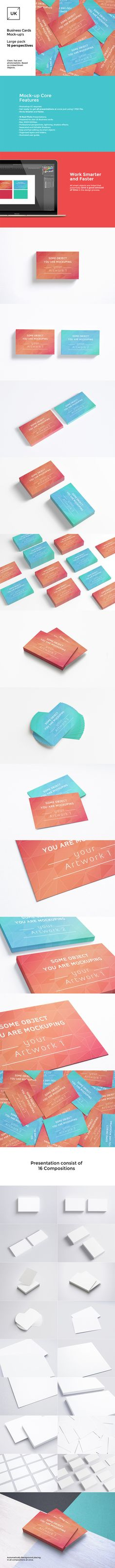UK Business Cards Mock-up's Pack by itembridge creative store on @creativemarket