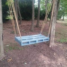 Pallet Swings Remodeling in Home Design - Home Pallet DIY Pallet Swings, Outdoor Swings, Outdoor Decor, Pallet Projects, Pallet Ideas, Porch Swing, Front Porch, Pallet Playhouse, Wooden Pallets