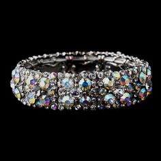 AB Crystal Stretch Bracelet will coordinate with any color prom dress!