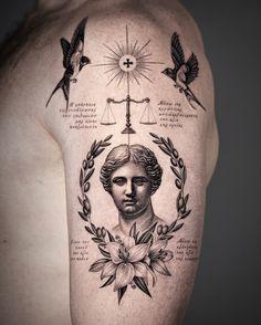 Cool Forearm Tattoos, Leg Tattoo Men, Big Tattoo, Greek Goddess Tattoo, Greek God Tattoo, God Tattoos, Tattoos For Guys, Tatoos, Tattoo Sleeve Designs