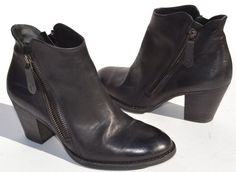 Paul Green Aubrey Black Leather Ankle Booties Size UK 3.5 / US 6 #PaulGreen #Booties