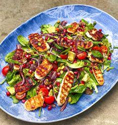 Pomegranate Salad, Pomegranate Recipes Healthy, Healthy Salad Recipes, Pomegranate Molasses, Hallumi Recipes, Onion Recipes, Veggie Recipes, Vegetarian Recipes, Cooking Recipes