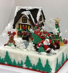 GORGEOUS Christmas CAKE № 4