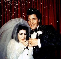 Elvis and Priscilla Presley May 1, 1967 at the Aladdin Hotel in Las Vegas