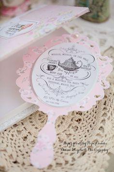 Fairytale Princess Mirror Invitation - ONE invitation add-on - By PaperCandee via Etsy