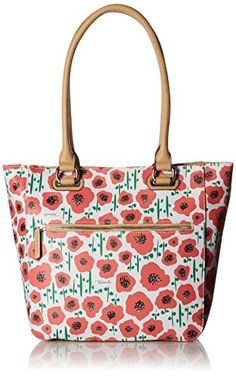Tignanello Print Medium Tote Bag Strawberry Poppy ** To view further for this item, visit the image link. (This is an Amazon affiliate link)