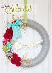 wreath using pool noodle