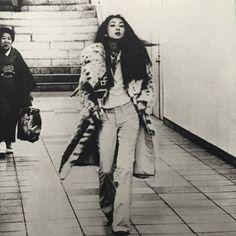 """1974年 新宿にて 梶芽衣子さん"""" or """"Meiko Kaji in Shunjuku, 1974″."""