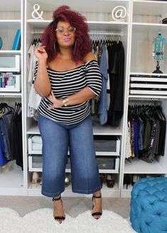 Fashion Bug Plus Size Tops and Tees. Curvy OutfitsPlus Size OutfitsWide Leg  Cropped PantsCurvy FashionWomens ... f5a8ec4995d2