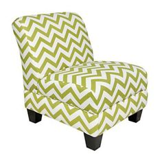 angelo:HOME Gina Green ZigZag Armless Accent Chair