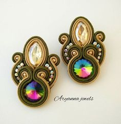 #aryannajewels #orecchini #earring #earringlove #handmade #metal #crystal #elegant #musthave #cool #good #igers #instacool #instafashion #fashion #moda #instagood #soutache #soutachemania #soutachejewelry