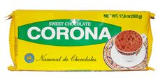 Corona Chocolate con Azucar Corona Chocolate con Azucar is a famous sweet Colombian chocolate bar used to make hot chocolate. Made in Colombia. White Cheese, Colombian Food, Native Art, Fabulous Foods, Hot Chocolate, Cupboard, Typography, Drinks, Sweet