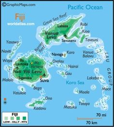 Map Of Fiji Fiji Map Geography Of Fiji Map Information World