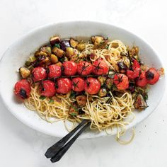Taste Mag | Tomato caponata pasta @ https://taste.co.za/recipes/tomato-caponata-pasta/
