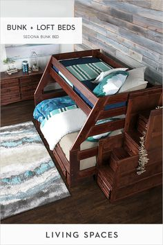 Bunk beds & loft beds that kids will love. Bedroom Loft, Dream Bedroom, Kids Bedroom, Bedroom Decor, Cool Bunk Beds, Kids Bunk Beds, Loft Beds, Queen Bunk Beds, Attic Bed