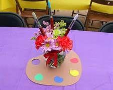 art palette table arrangements decorating ideas - Bing Images