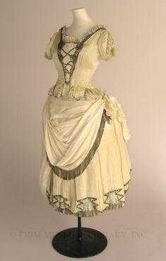 FIDM Fancy dress costume  c. 1883-87  Swan & Edgar  Gift of Helen Larson Estate  2001.31.15AB