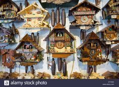 Traditional Cuckoo Clocks On Sale In Geschenkehaus Shop In The Town Stock Photo, Royalty Free Image: 66404900 - Alamy