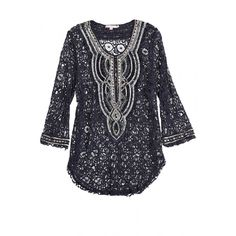 Celebrate #CalypsoCares and receive 25% off your next purchase when you donate a gently used sweater at a Calypso Boutique. You can also now show your support by giving online! Embellished lace tunic.