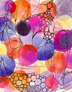 Watercolor Floral by Alissa Evans, via Behance