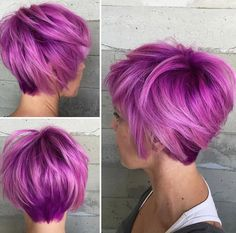 Hair colors are generally perfect way to update your look and style, you create definitely new and fresh look with a brand new hair color idea that'll flatter. Short Hairstyles For Thick Hair, Haircut For Thick Hair, Short Hair Cuts For Women, Cool Hairstyles, Short Hair Styles, Short Haircuts, Hairstyles 2016, Medium Hairstyles, Wavy Hair