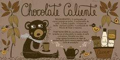 Cositas Ricas Ilustradas por Pati Aguilera: Chocolate Caliente Chocolates, Chilean Recipes, Chilean Food, Coffee Painting, Vintage Drawing, Time To Eat, Kitchen Recipes, Diy Food, Milkshake