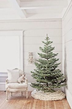 22 Ways To Cover Your Christmas Tree Base | ComfyDwelling.com #ways #cover #christmas #tree #base