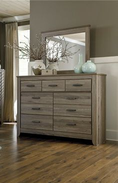 Zelen Bedroom Mirror by Signature Designs at Kensington Furniture. I love this piece of bedroom decor for a coastal home