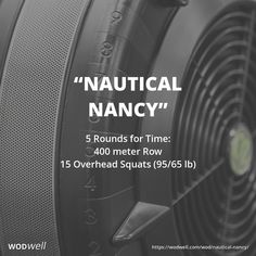 """Nautical Nancy"" is a variant of one of the classic CrossFit Girl WODs, ""Nancy."" This version simply substitutes running for rowing. The earliest reference we have found is from Motor City CrossFit (Sterling Heights, MI), posted on their website as the workout of the day nine years ago tomorrow, February 27, 2009."